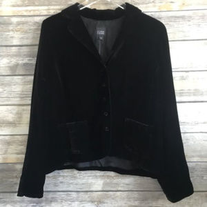 Eileen Fisher | Black Velvet Blazer Jacket